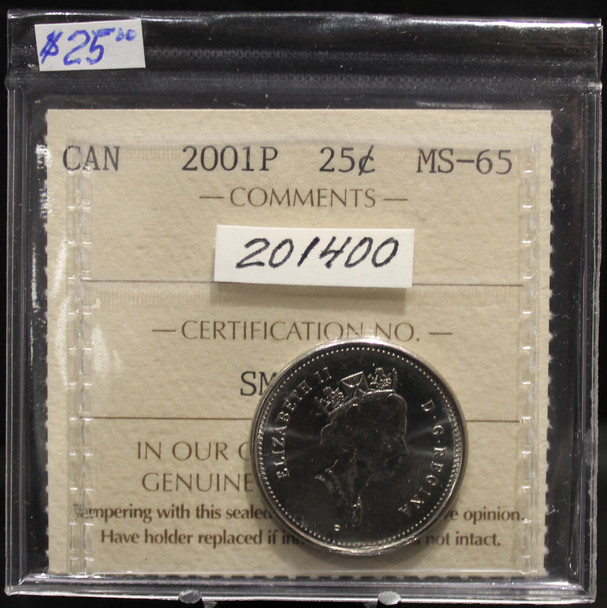 2001P CIRCULATION 25-CENT COIN - MS-66