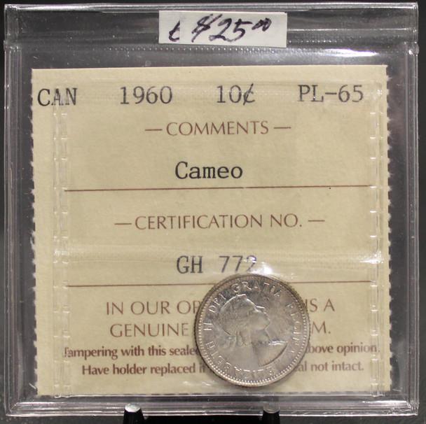1960 CIRCULATION 10-CENT COIN - CAMEO - PL-65