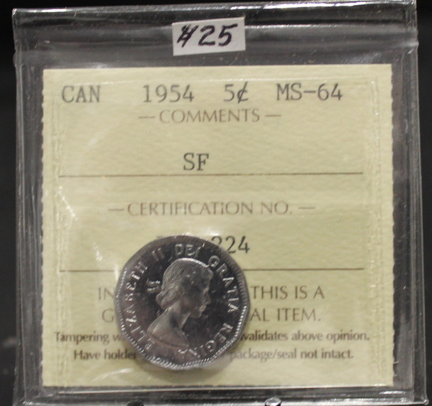 1954 CIRCULATION 5-CENT COIN - MS-64