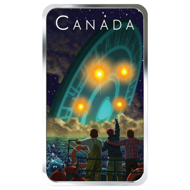 2019 $20 FINE SILVER COIN CANADA'S UNEXPLAINED PHENOMENA: THE SHAG HARBOUR INCIDENT