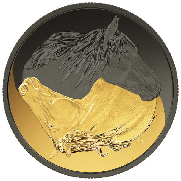 AWAITING STOCK - 2020 $20 FINE SILVER COIN BLACK AND GOLD: THE CANADIAN HORSE