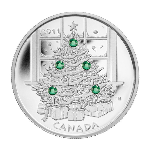 SALE - 2011 $20 FINE SILVER COIN - CRYSTAL CHRISTMAS TREE
