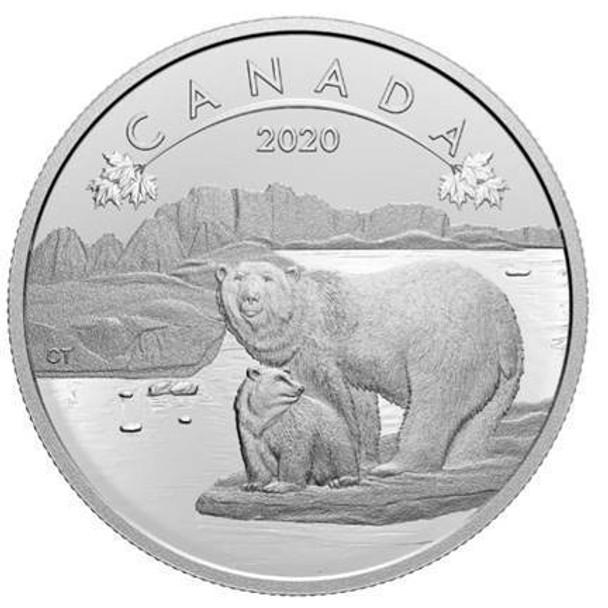 2020 $10 FINE SILVER COIN O CANADA! POLAR BEARS