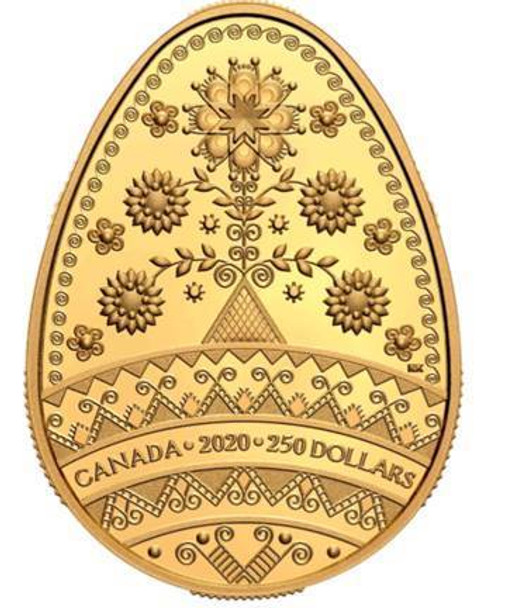 2020 $250 PURE GOLD COIN TREE OF LIFE PYSANKA