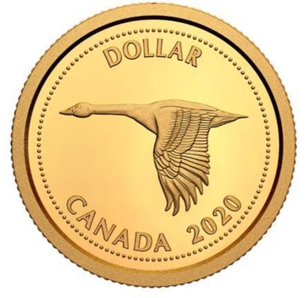 2020 1/10TH OZ. PURE GOLD COIN TRIBUTE TO ALEX COLVILLE: 1967 DOLLAR