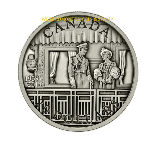 SALE - 2014 $20 FINE SILVER COIN 75TH ANNIVERSARY OF THE FIRST ROYAL VISIT