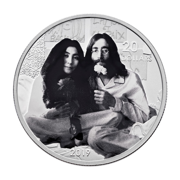 SALE - 2019 $20 FINE SILVER COIN GIVE PEACE A CHANCE: 50TH ANNIVERSARY