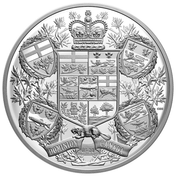 2020 $250 FINE SILVER COIN REIMAGINED 1905 ARMS OF DOMINION OF CANADA