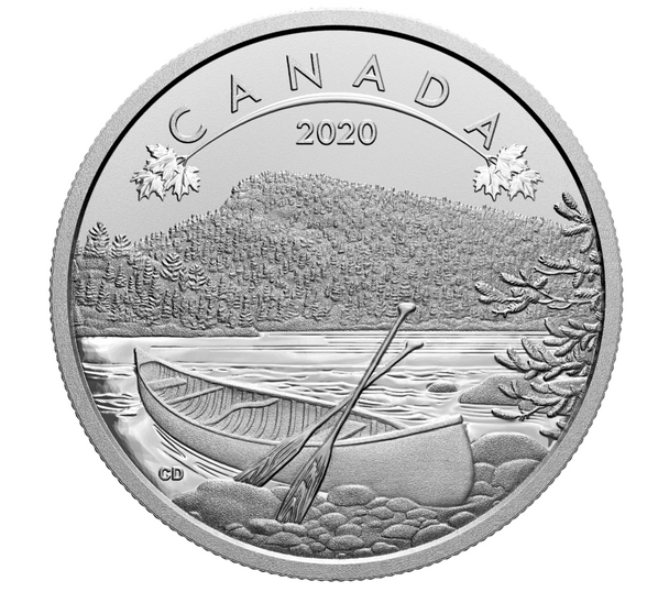 2020 $10 FINE SILVER COIN O CANADA!:THE GREAT OUTDOORS