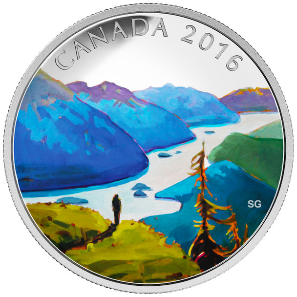 SALE - 2016 $20 FINE SILVER COIN CANADIAN LANDSCAPE SERIES - REACHING THE TOP