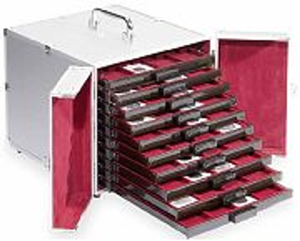 LIGHTHOUSE ALUMINUM CASE UP TO 10 MB COIN BOXES TRAYS SOLD SEPERATALY