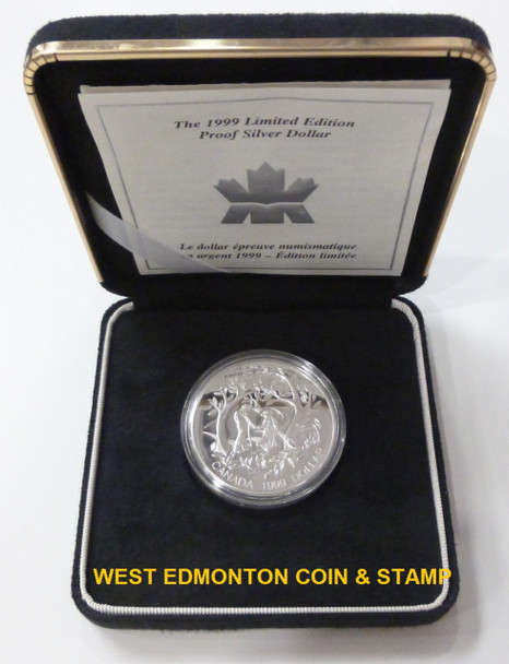 1999 LIMITED EDITION PROOF SILVER DOLLAR - INTERNATIONAL YEAR OF OLDER PERSONS