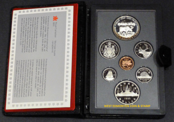 1985 PROOF DOUBLE DOLLAR SET