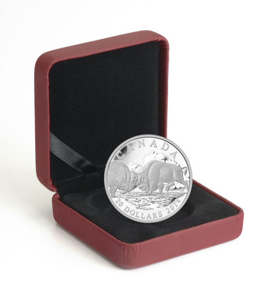 2014 $20 FINE SILVER COIN - THE BISON: THE FIGHT