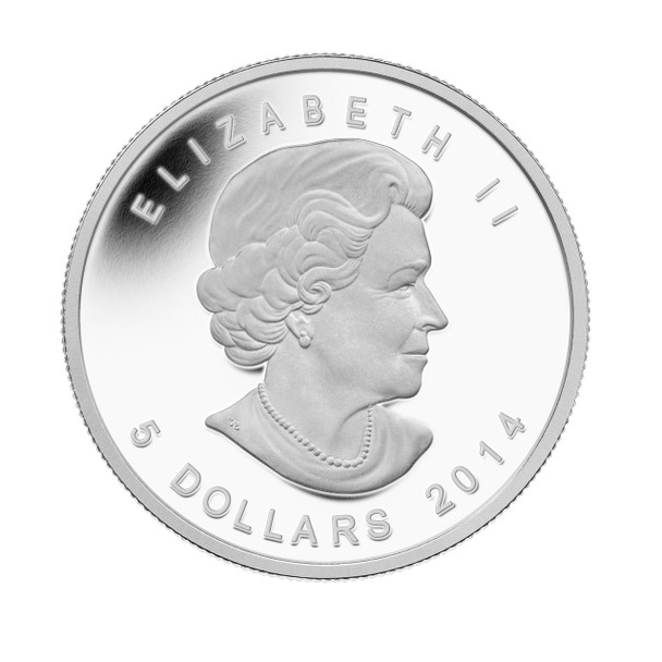 2014 $5 FINE SILVER COIN - ARCTIC FOX