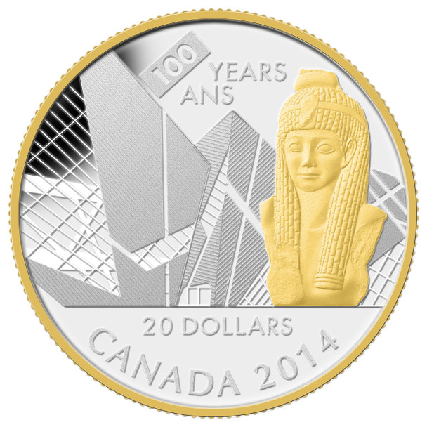 2014 $20 FINE SILVER COIN - 100TH ANNIVERSARY OF THE ROYAL ONTARIO MUSEUM