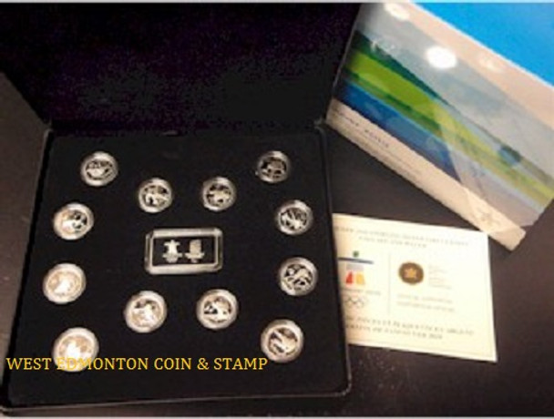 VANCOUVER 2010 STERLING SILVER CIRCULATION COIN SET AND WAFER - QUANTITY SOLD: 3,172