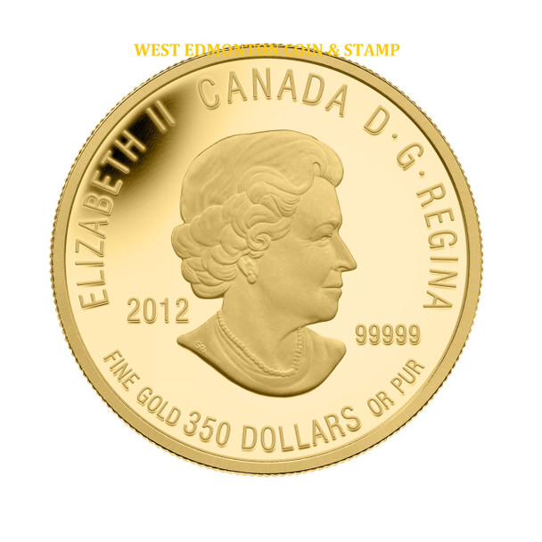 2012 $350 PURE GOLD COIN - SIR ISAAC BROCK, THE HERO OF UPPER CANADA