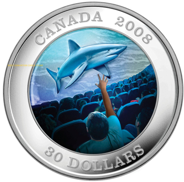 2008 STERLING SILVER COIN - IMAX CANADIAN ACHIEVEMENTS SERIES - QUANTITY SOLD: 3,861