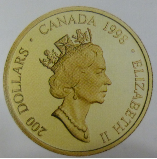 1998 $200 GOLD COIN - THE LEGEND OF THE GREAT WHITE BUFFALO