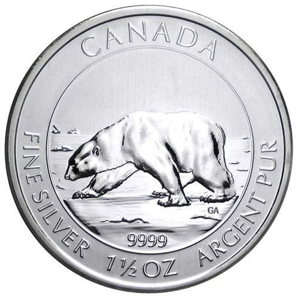1.5oz. 2013 CANADIAN POLAR BEAR SILVER COIN