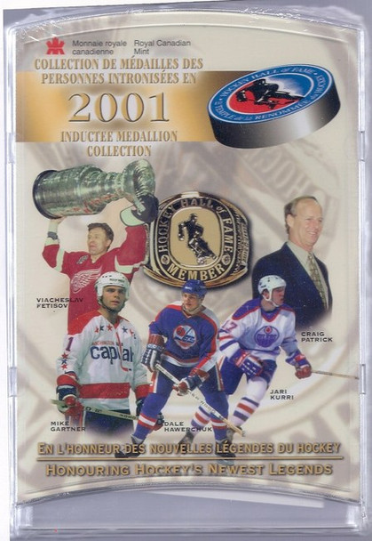 2001 HOCKEY HALL OF FAME MEDALLION COLLECTION - 5 PIECES