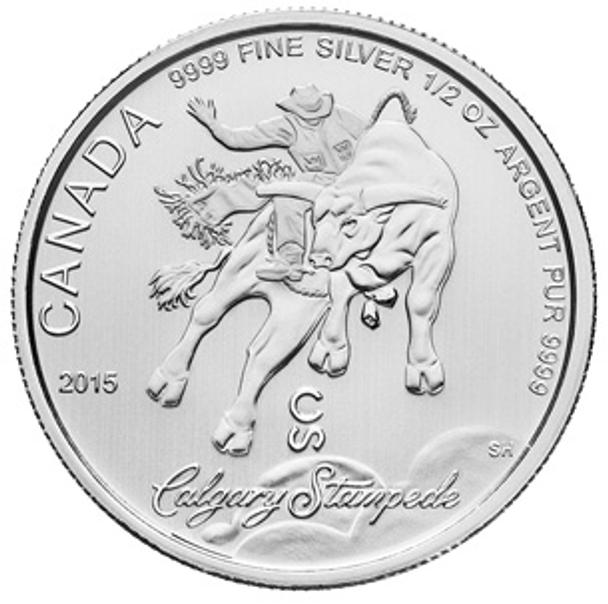 1/2oz. 2015 CANADIAN CALGARY STAMPEDE SILVER COIN