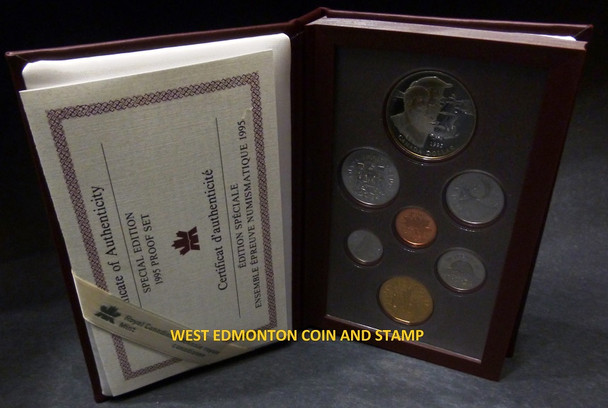 1995 LIMITED EDITION (RED) PROOF DOUBLE DOLLAR SET - 50TH ANN. UNITED NATIONS