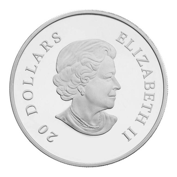 2011 FINE SILVER $20 COIN - SMALL CRYSTAL SNOWFLAKE - MONTANA - QUANTITY SOLD: 5822