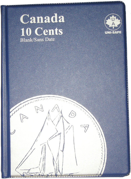 CANADA 10 CENTS - DIMES - BLANK - BLUE COIN FOLDERS - UNI-SAFE