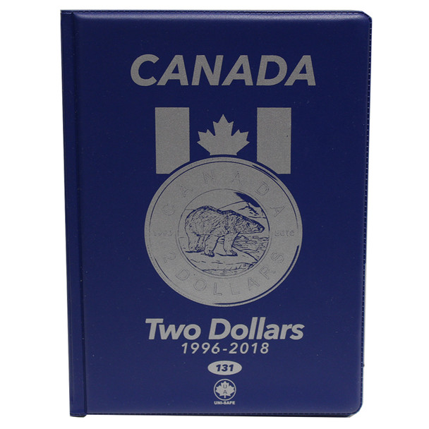 CANADA 2 DOLLARS - TOONIES - 1996-2018 - BLUE COIN FOLDERS - UNI-SAFE