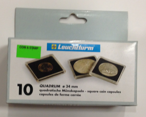 10-PACK SQUARE QUADRUM CAPSULES - 34mm