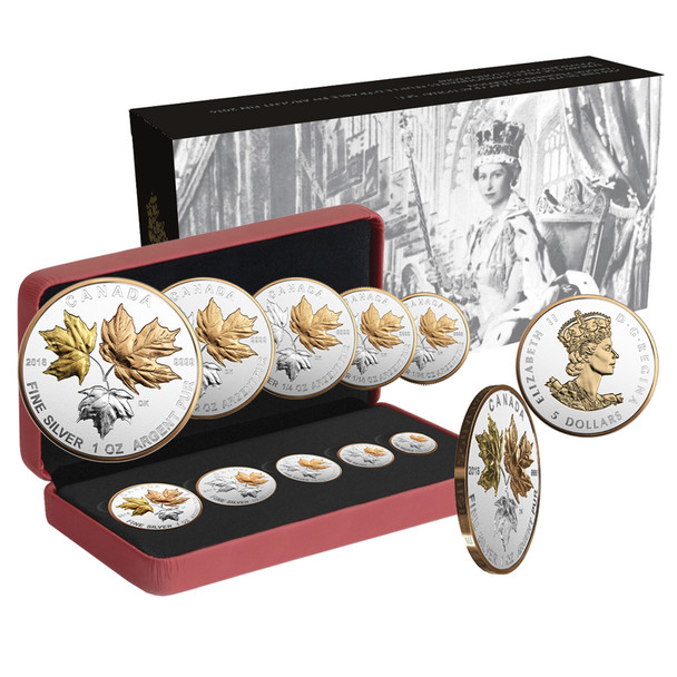 2016 FINE SILVER MAPLE LEAF FRACTIONAL SET: A HISTORIC REIGN