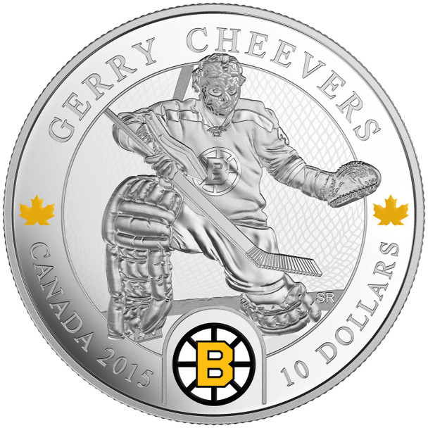 2015 $10 FINE SILVER COIN - ORIGINAL SIX™ GOALIES - GERRY CHEEVERS