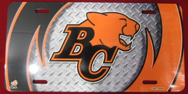 B.C. LIONS AIRBRUSHED LICENCE PLATE