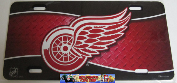 DETROIT RED WINGS NHL METAL AIRBRUSH LICENCE PLATES