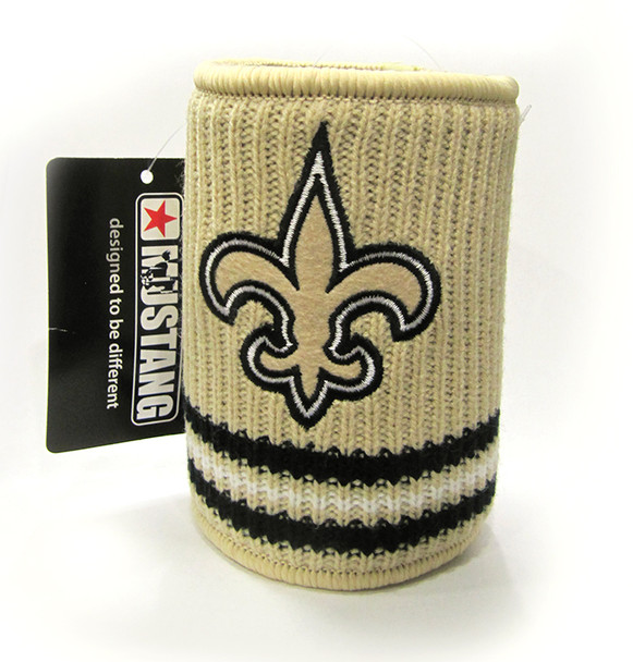 NEW ORLEANS SAINTS NFL WOOL KOOZIE - BEVERAGE INSULATOR