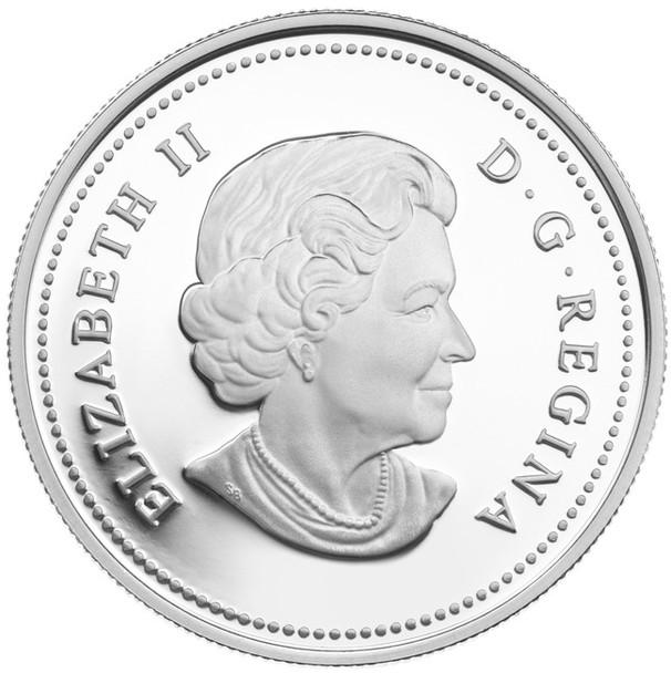 2011 $20 FINE SILVER COIN - MAPLE LEAF CRYSTAL RAINDROP
