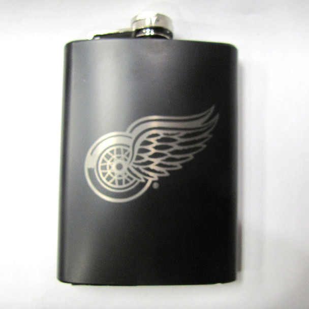 DETROIT RED WINGS  NHL LASER ENGRAVED STAINLESS STEEL FLASK