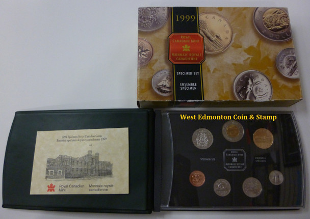 1999 7-COIN SPECIMEN SET - POLAR BEAR TOONIE