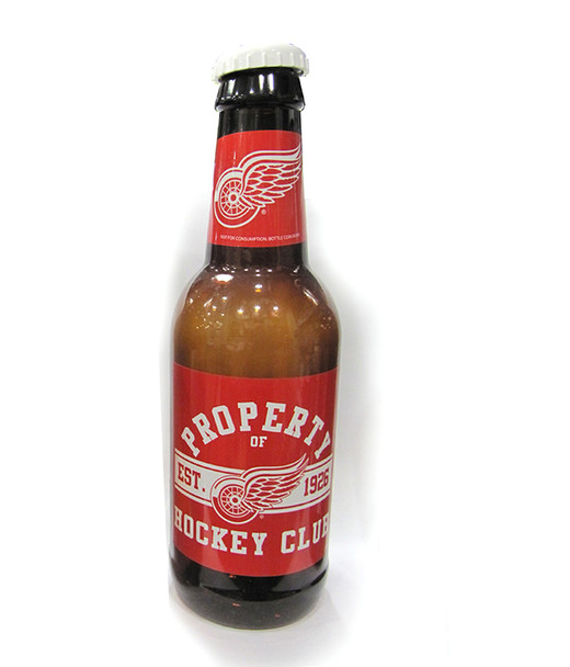 DETROIT RED WINGS - NHL HOCKEY - BOTTLE COIN BANK