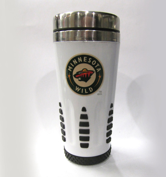 MINNESOTA WILD - NHL HOCKEY - HUNTSVILLE METAL TRAVEL MUG