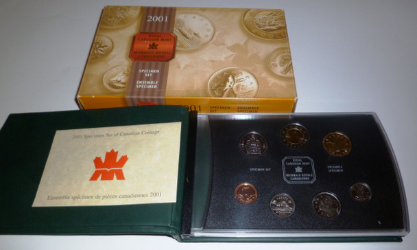 2001 7-COIN SPECIMEN SET