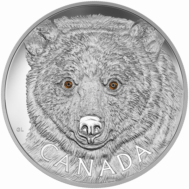 2016 $250 FINE SILVER COIN IN THE EYES OF THE SPIRIT BEAR