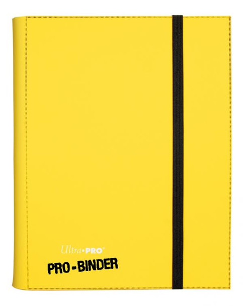 ULTRA PRO SIDELOADING PRO-BINDER - 20 PAGES - YELLOW