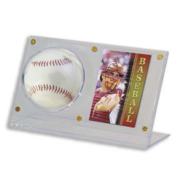BASEBALL & CARD HOLDER - ACRYLIC