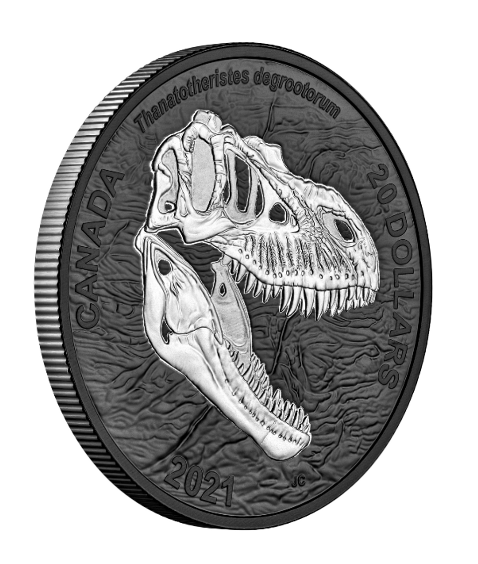 2021 $20 FINE SILVER COIN DISCOVERING DINOSAURS: REAPER OF ...
