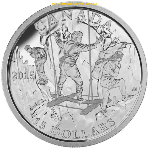 2015 15 Fine Silver Coin Exploring Canada The Wild Rivers Exploration West Edmonton Coin