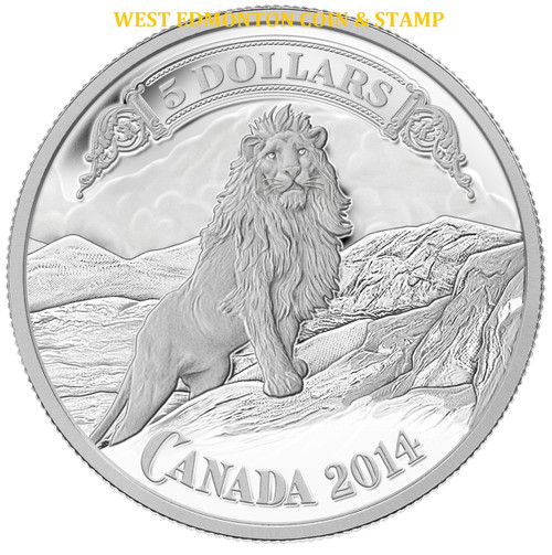 2014 5 Fine Silver Coin Bank Notes Series Lion On The Mountain West Edmonton Coin Amp Stamp