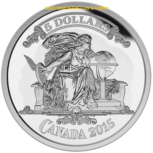 2015 5 Fine Silver Coin Bank Notes Series Canadian Banknote Vignette West Edmonton Coin Amp Stamp